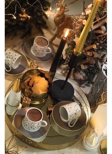 Kütahya Porselen Rüya 11218 Desen Kahve Fincan Takımı Renkli